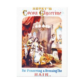 Anuncio 1860 del tónico de pelo impresión en lienzo estirada