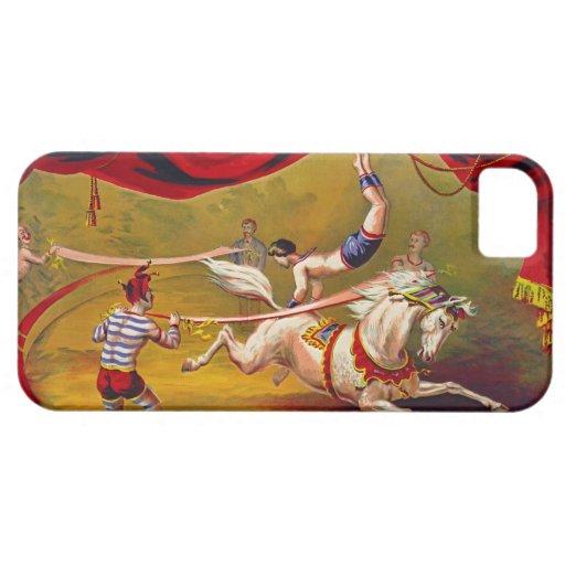 Anuncio 1875 del circo del vintage iPhone 5 protector