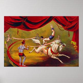 Anuncio 1875 del circo del vintage poster