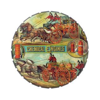 Anuncio 1880 del extintor frascos de caramelos