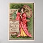 Anuncio 1881 del perfume del agua de la Florida Posters