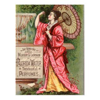 Anuncio 1881 del perfume del agua de la Florida Postales