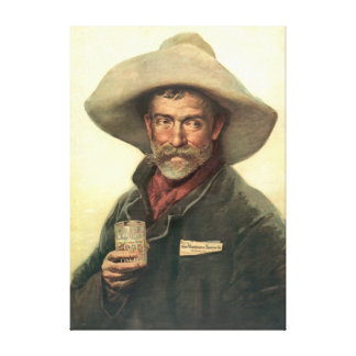 Anuncio 1889 de la cervecería impresión en tela