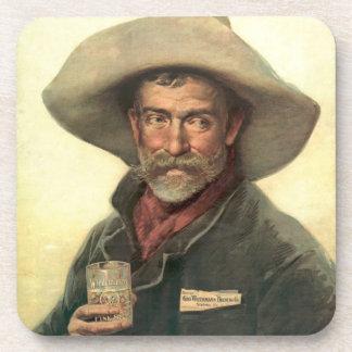 Anuncio 1889 de la cervecería posavasos