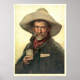 Anuncio 1889 de la cervecería póster