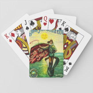 Anuncio 1889 del zapato del vintage barajas de cartas