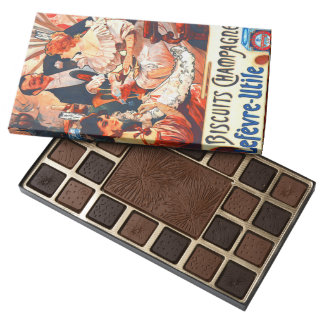 Anuncio 1896 de las galletas de Champán Caja De Bombones Variados Con 45 Piezas