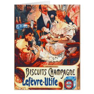 Anuncio 1896 de las galletas de Champán Tarjeta De Felicitación Grande