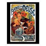 Anuncio 1897 de la cerveza de Nouveau del arte Tarjeta De Felicitación Grande
