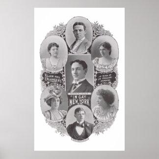 """Anuncio 1897 de la revista """"EN NUEVA YORK GAY"""" - K Póster"""