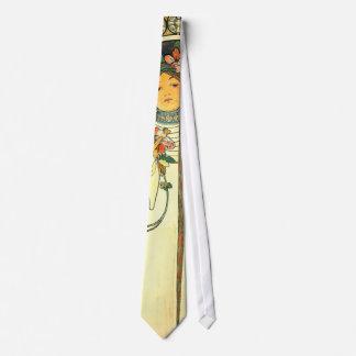 Anuncio 1898 del licor de Nouveau del arte Corbatas