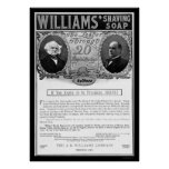 Anuncio 1901 del jabón de afeitar de Williams Posters