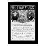 Anuncio 1901 del jabón de afeitar de Williams Felicitación