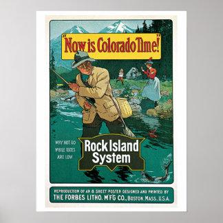 Anuncio 1903 del viaje del viaje de pesca de Color Poster