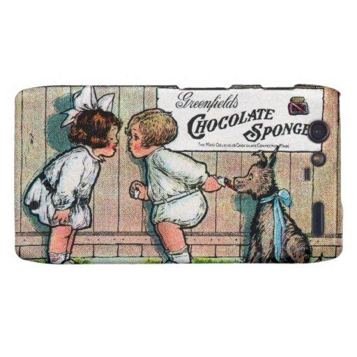 Anuncio 1905 del caramelo de chocolate droid RAZR carcasas