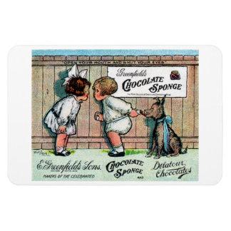 Anuncio 1905 del caramelo de chocolate imanes