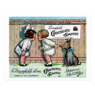 Anuncio 1905 del caramelo de chocolate postales
