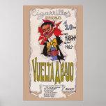 Anuncio 1907 del cigarrillo de Vuelta Abajo del vi Póster