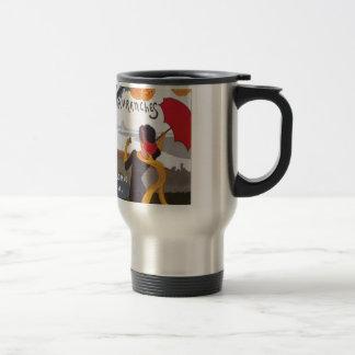 Anuncio 1910 del viaje del francés del vintage taza de viaje de acero inoxidable
