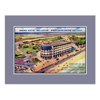 Anuncio 1911 del hotel de la época de la belleza postales