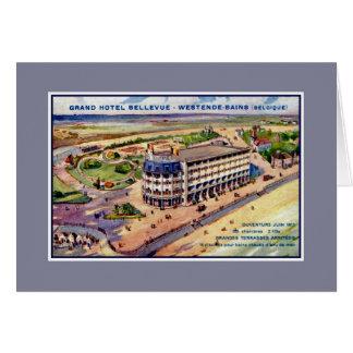 Anuncio 1911 del hotel de la época de la belleza tarjeta de felicitación