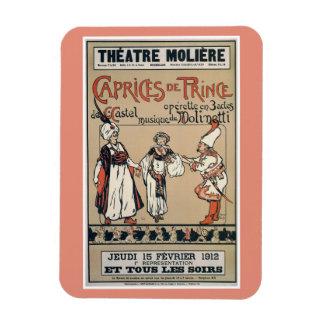 Anuncio 1912 de la opereta de Moliere Bruselas del Rectangle Magnet