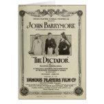 Anuncio 1915 del expositor de la película muda de  tarjeton