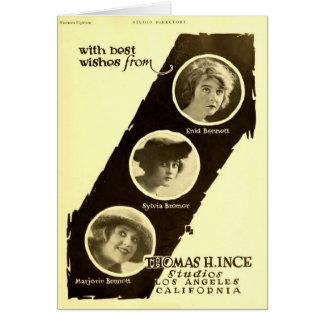 Anuncio 1918 del expositor de la película muda de  felicitaciones