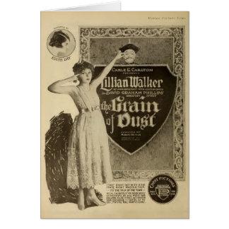 Anuncio 1918 del expositor de la película muda del tarjeta de felicitación