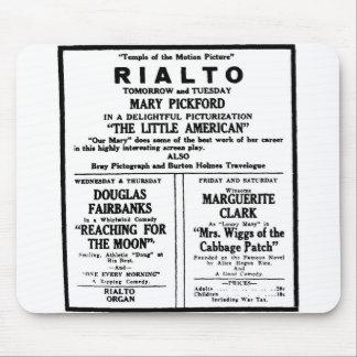 Anuncio 1919 de periódico de Mary Pickford Alfombrillas De Raton