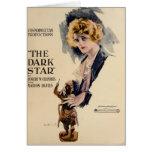 Anuncio 1919 del expositor de la película muda de  tarjeta de felicitación