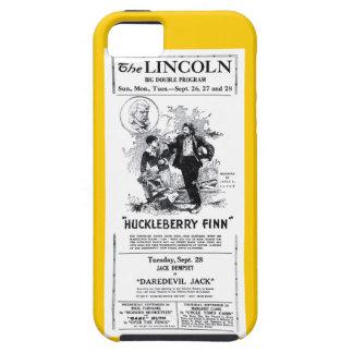 Anuncio 1920 de la película muda de Huckleberry iPhone 5 Fundas