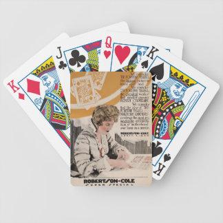 Anuncio 1920 del expositor de la película muda de  baraja cartas de poker