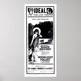 Anuncio 1921 de periódico del vintage de Marie Pre Impresiones