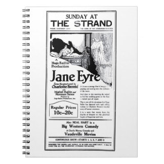 Anuncio 1922 de la película muda de Charlotte Bron Libretas Espirales