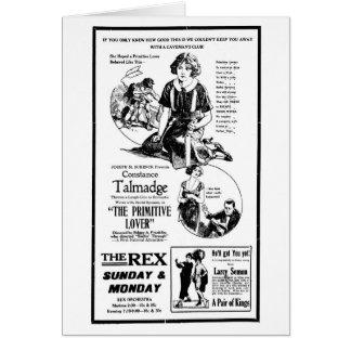 Anuncio 1922 de la película muda de Constance Talm Felicitación