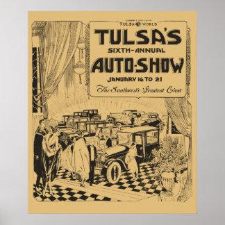 Anuncio 1922 de periódico de la demostración del póster