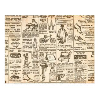 Anuncio 1922 de periódico del vintage tarjeta postal