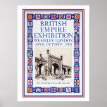 Anuncio 1924 de la exposición del Imperio británic Impresiones