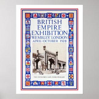 Anuncio 1924 de la exposición del Imperio británic Póster