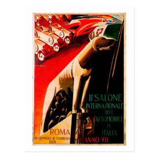 Anuncio 1929 del automóvil del vintage del ~ del C Postal