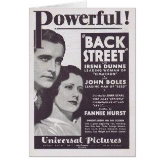 Anuncio 1932 de la película de Irene Dunne de la c Tarjeta De Felicitación