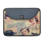 Anuncio 1936 del gorra de la moda del vintage funda macbook pro