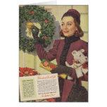 Anuncio 1937 del navidad de Joan Crawford Tarjeta De Felicitación