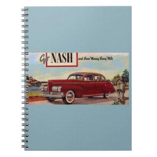 Anuncio 1941 del automóvil de Nash Libro De Apuntes Con Espiral