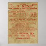 Anuncio 1943 del té y del café impresiones