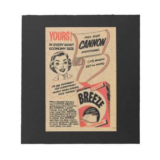 Anuncio 1955 del detergente del vintage blocs de papel