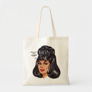 "Anuncio #1 de la peluca humana del vintage el ""100 bolsa tela barata"