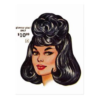 Anuncio #1 de la peluca humana del vintage el postal