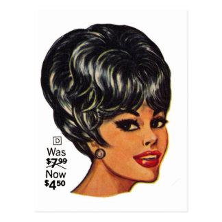 Anuncio #2 de la peluca humana del vintage el postal